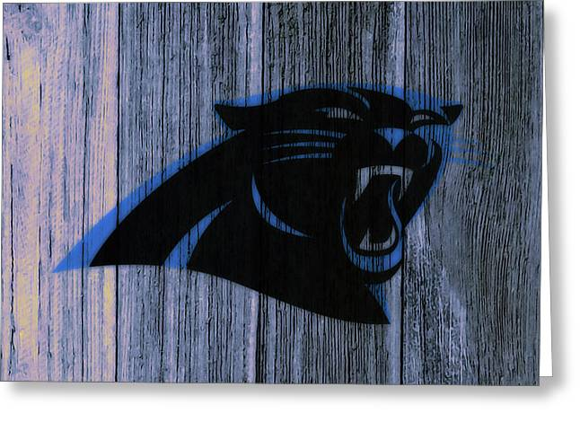 The Carolina Panthers C4 Greeting Card by Brian Reaves
