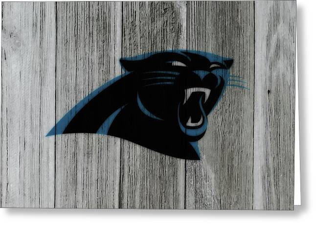 The Carolina Panthers C6 Greeting Card by Brian Reaves