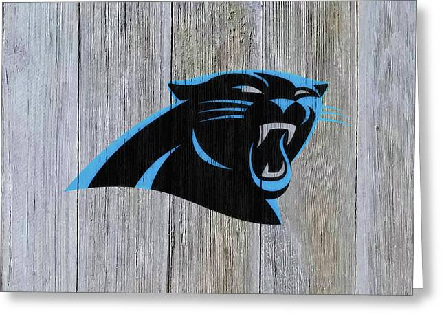 The Carolina Panthers C8 Greeting Card by Brian Reaves