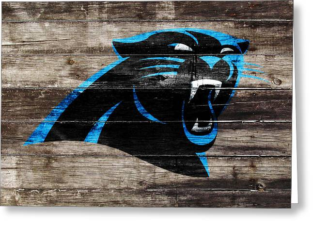 The Carolina Panthers W6 Greeting Card by Brian Reaves