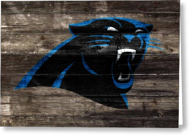 The Carolina Panthers W8 Greeting Card by Brian Reaves