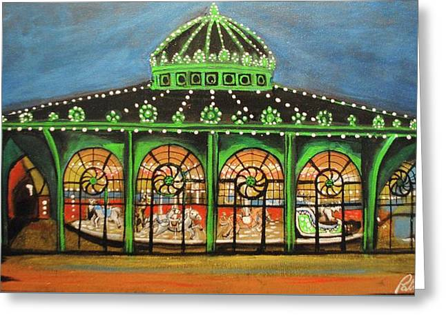 The Carousel Of Asbury Park Greeting Card