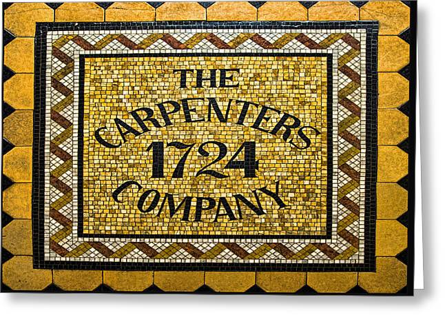 The Carpenters Company Greeting Card by Stephen Stookey