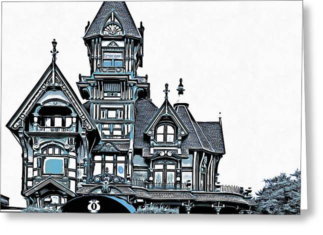 The Carson Mansion Greeting Card