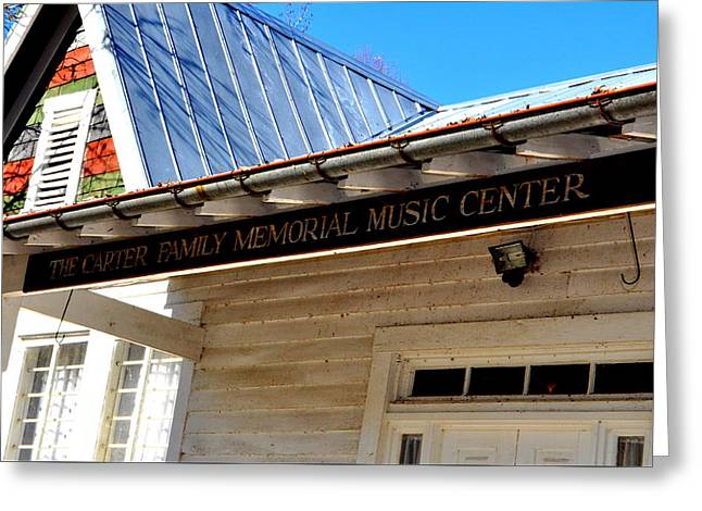 The Carter Family Memorial Music Center Greeting Card by Amy Larson