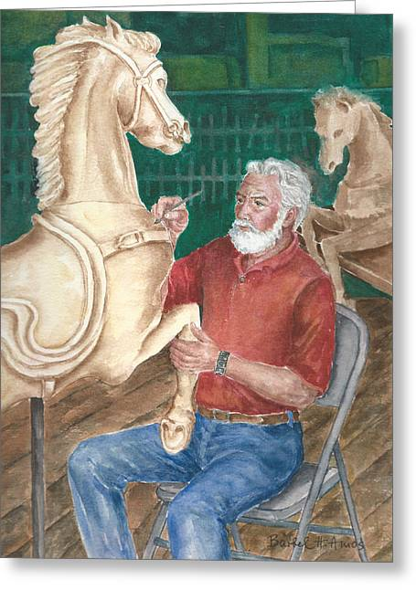 The Carver And His Horse Greeting Card