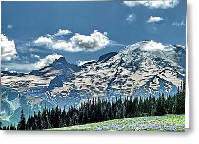 The Cascade Mountains And Mt. Rainier Greeting Card