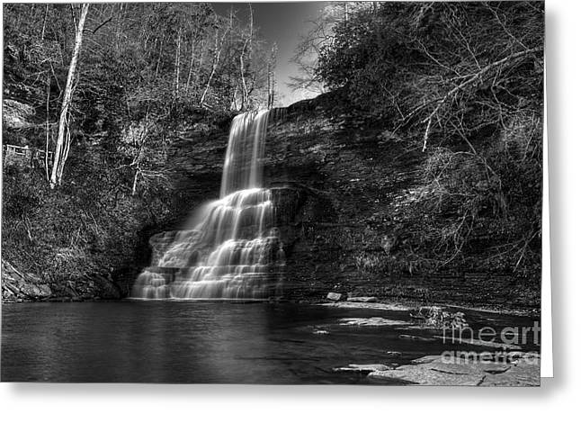 The Cascades Greeting Card by Pete Hellmann