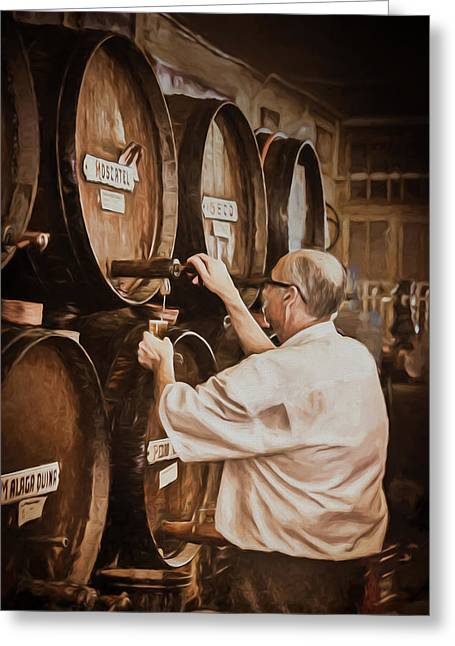 The Cask Manager Greeting Card by Peter Hayward Photographer