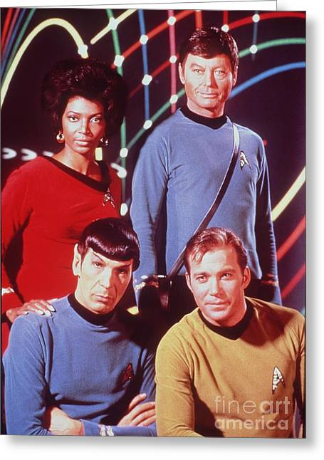 The Cast Of Star Trek Greeting Card