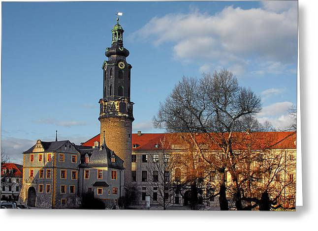 The Castle - Weimar - Thuringia - Germany Greeting Card by Christine Till
