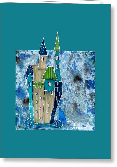 The Castle Descends Greeting Card