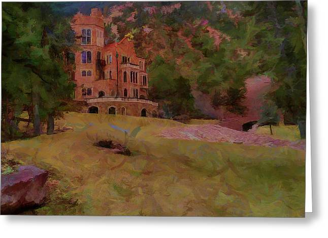 Greeting Card featuring the digital art The Castle by Ernie Echols