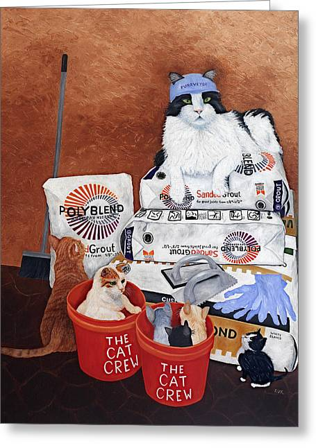 The Cat Crew Greeting Card