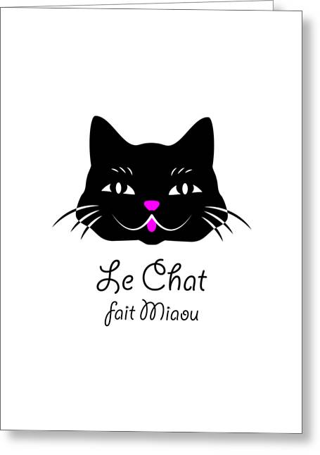 The Cat Says Meow Greeting Card by Antique Images