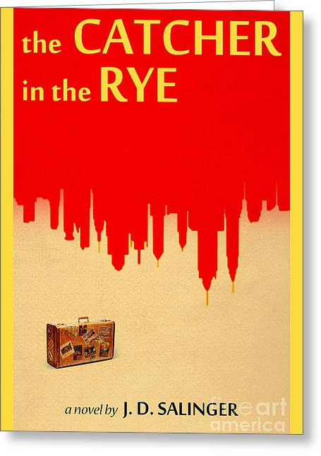 The Catcher In The Rye Book Cover Movie Poster Art 3 Greeting Card by Nishanth Gopinathan