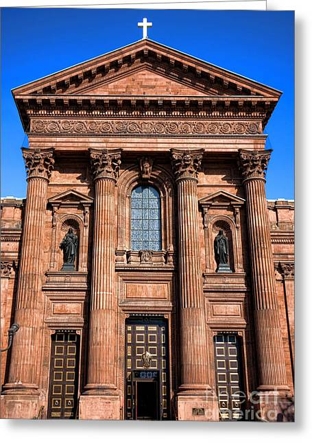 The Cathedral Basilica Of Saints Peter And Paul Greeting Card by Olivier Le Queinec