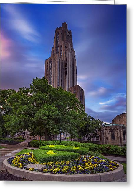 The Cathedral Of Learning Greeting Card by Rick Berk