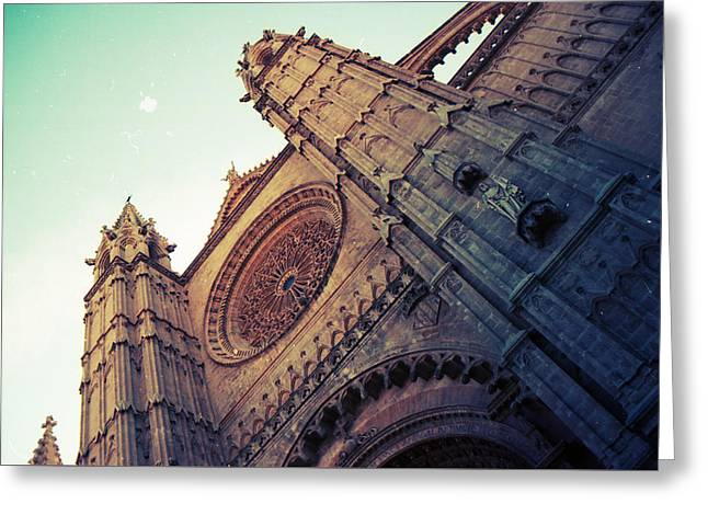 The Cathedral Of Light Greeting Card by Eye Contact