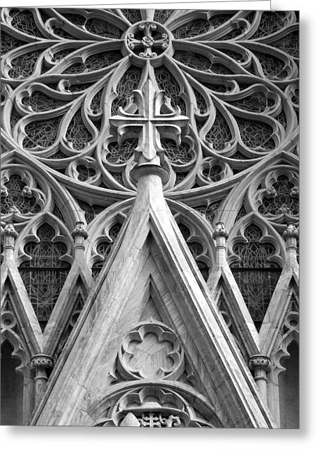The Cathedral Of St. Patrick Close Up Greeting Card