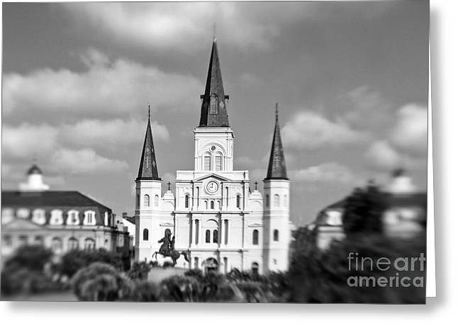 The Cathedral - Bw Greeting Card