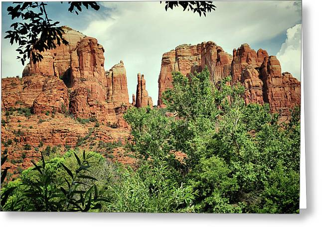 The Cathedral - Sedona Arizona - Red Rock Crossing - Color  Greeting Card by Gregory Ballos