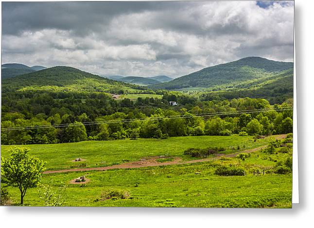 Greeting Card featuring the photograph The Catskill Mountains by Paula Porterfield-Izzo