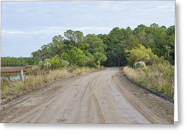 The Causway On Chisolm Island Greeting Card