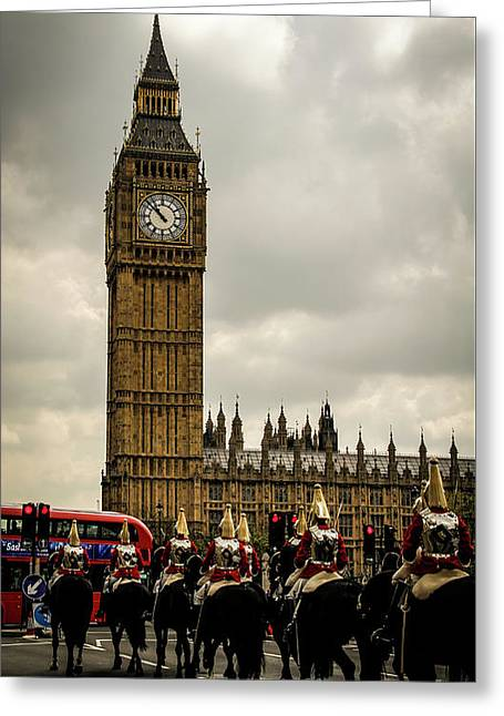 The Cavalry And Big Ben Greeting Card