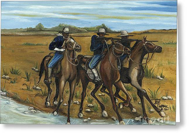 The Cavalry Greeting Card by Toni  Thorne