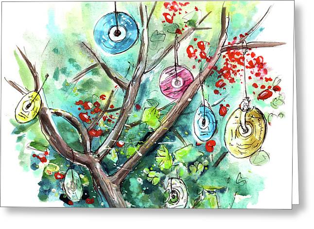 The Cd Tree In Muker Greeting Card by Miki De Goodaboom