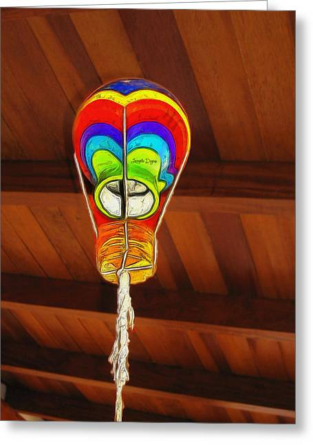 The Ceiling Lamp - Mm Greeting Card by Leonardo Digenio