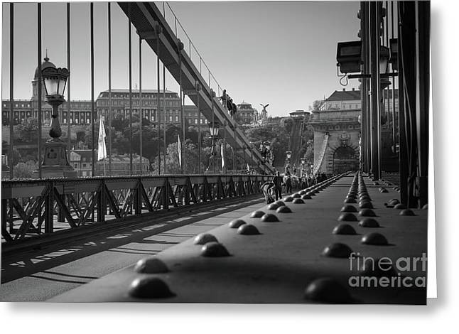 The Chain Bridge, Danube Budapest Greeting Card