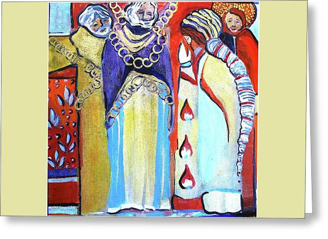 Greeting Card featuring the painting The Chains That Bind Us To Christ by Mindy Newman