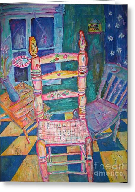 The Chair 2 Greeting Card by Marlene Robbins