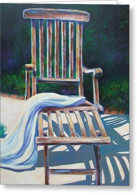 The Chair Greeting Card by Shannon Grissom