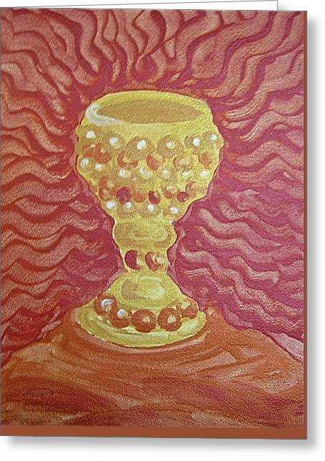 The Chalice Or Holy Grail Greeting Card