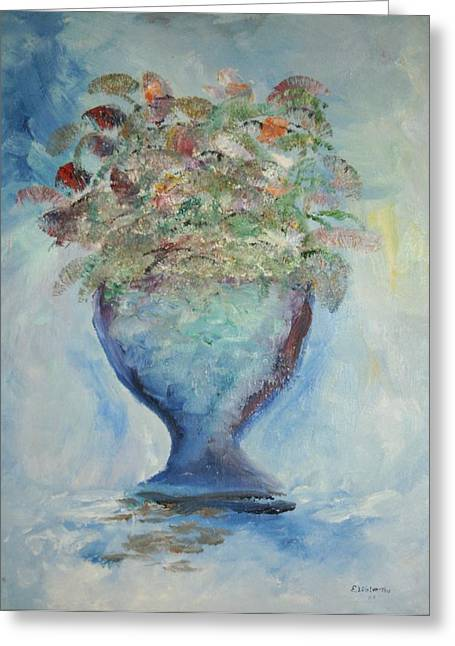 The Chalise Vase Greeting Card by Edward Wolverton