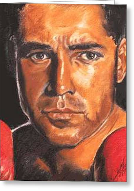 The Champ - Oscar De La Hoya Greeting Card by Kenneth Kelsoe