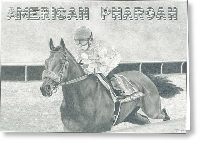 The Champ Greeting Card by Russell Britton