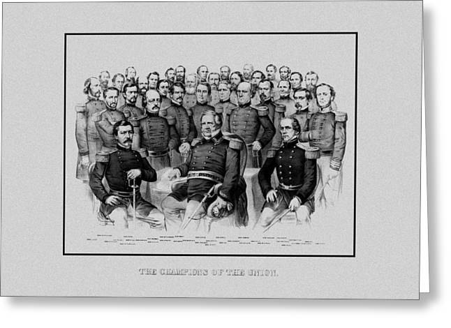 The Champions Of The Union -- Civil War Greeting Card