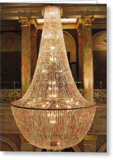 The Chandelier Too Greeting Card