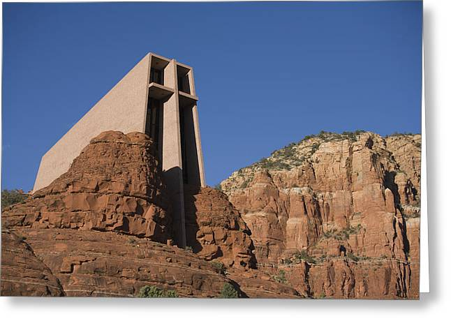 The Chapel Of The Holy Cross Church Greeting Card by John Burcham