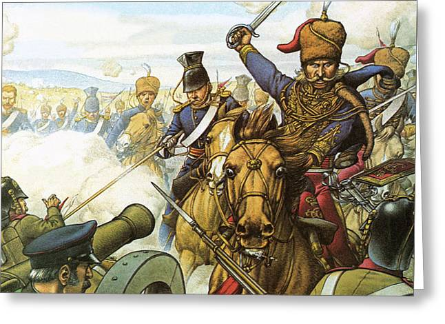 The Charge Of The Light Brigade Greeting Card by Pat Nicolle