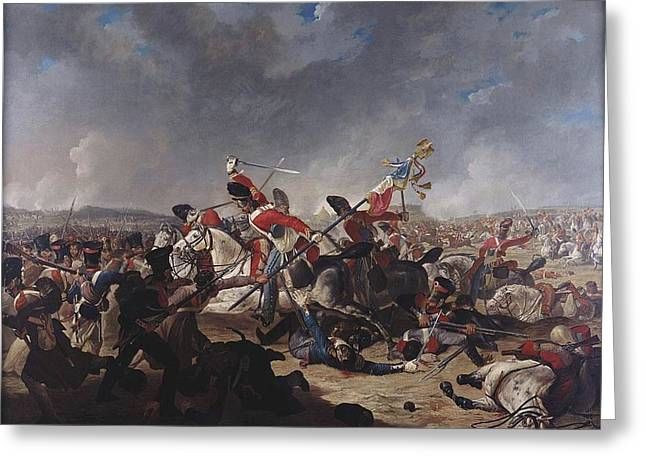 The Charge Of The Second Brigade Greeting Card by Denis Dighton