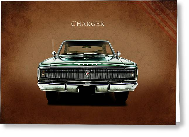 The Charger Greeting Card by Mark Rogan