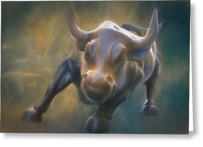 The Charging Bull Greeting Card