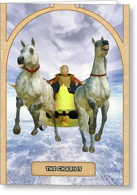The Chariot Greeting Card by John Edwards