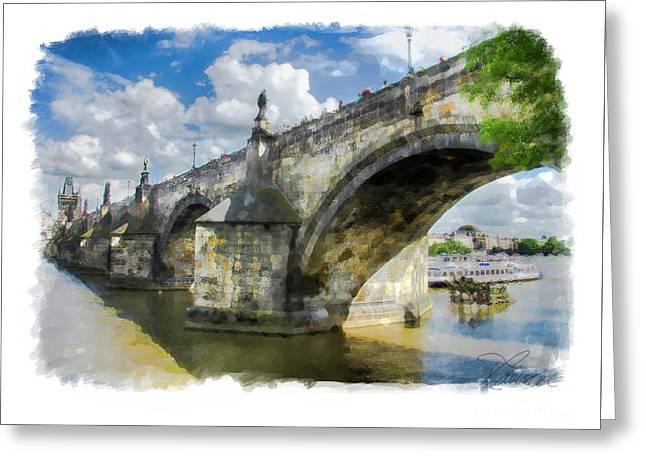 The Charles Bridge - Prague Greeting Card