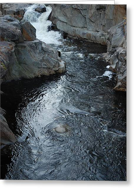 The Chasm Greeting Card by Clay Peters Photography